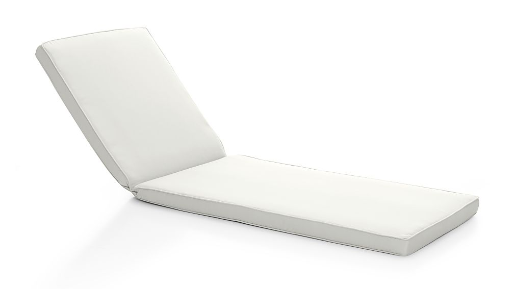 Regatta White Sand Sunbrella ® Chaise Lounge Cushion - Image 1 of 3
