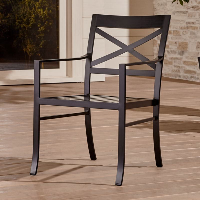 Regent dining chair with sunbrella cushion crate and barrel - Wood exterior paint collection ...