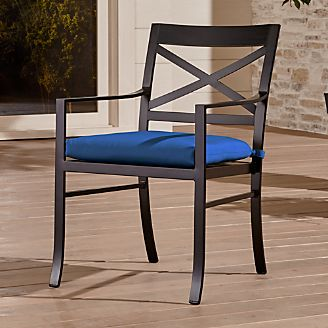 Wood Patio Furniture With Cushions outdoor patio dining furniture | crate and barrel