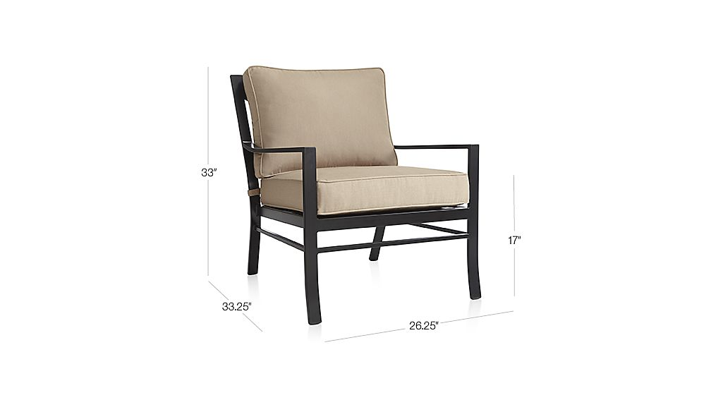 Regent Lounge Chair with Sunbrella Cushion Sunbrella