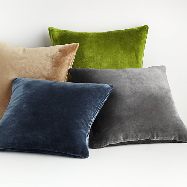 "Regis 20"" Velvet Pillows - Image 1 of 3"
