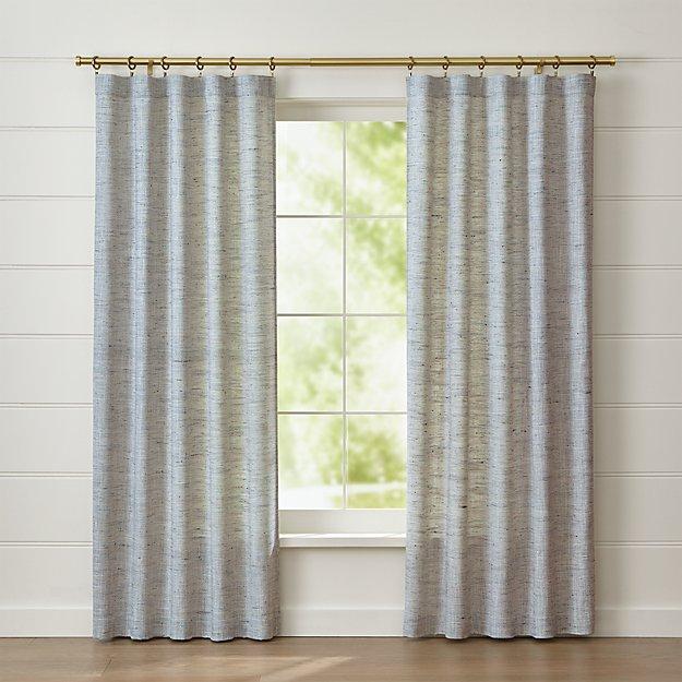 reid blue curtain panel crate and barrel. Black Bedroom Furniture Sets. Home Design Ideas