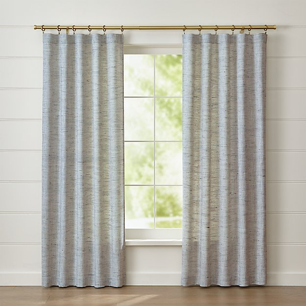 Reid Blue Curtain Panel | Crate and Barrel