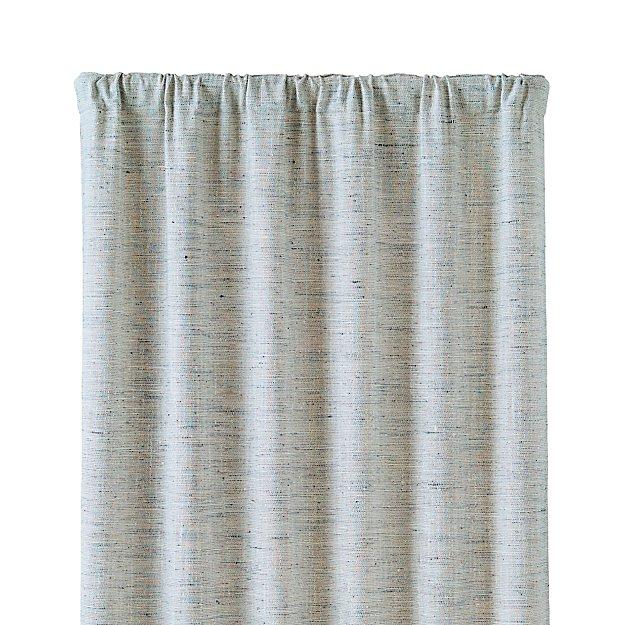 reid blue 48 x108 curtain panel crate and barrel. Black Bedroom Furniture Sets. Home Design Ideas