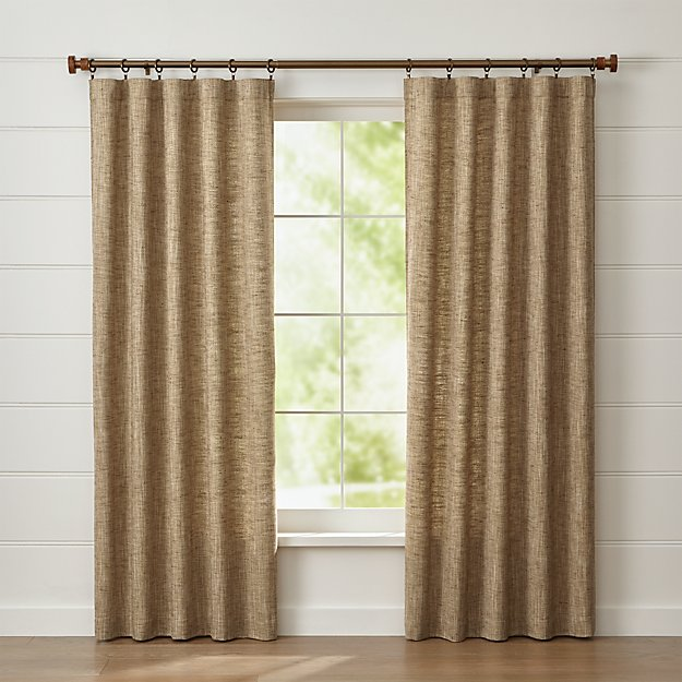 reid butterscotch curtain panel | crate and barrel