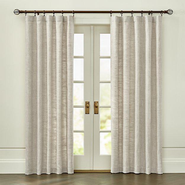 reid natural curtain panel crate and barrel - Crate And Barrel Curtains