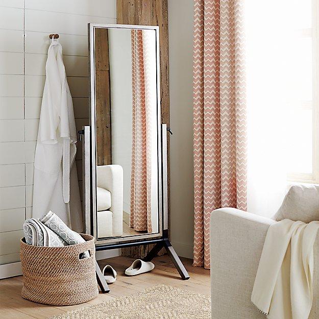Malvern Grey Cheval Floor Mirror Crate And Barrel
