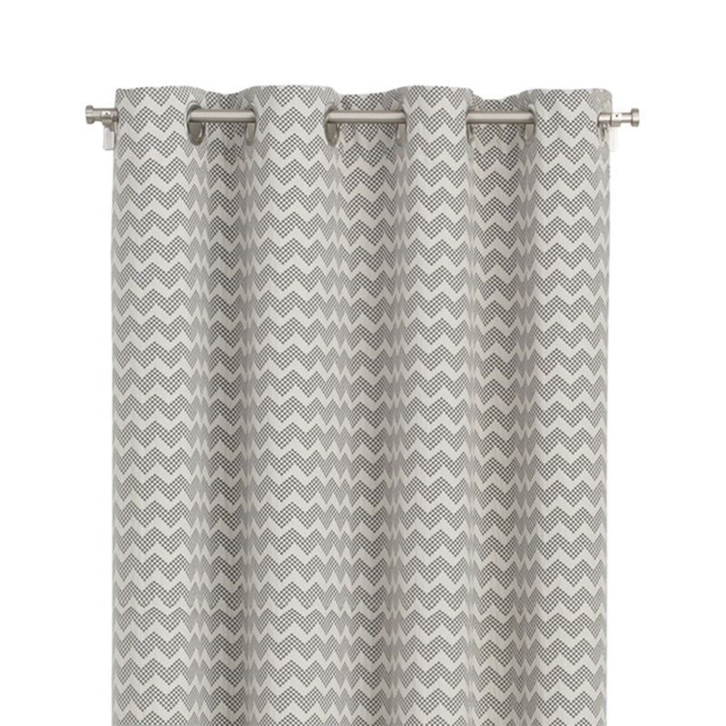 Reilly 50x108 Grey Chevron Curtain Panel Reviews