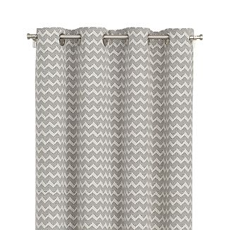 "Reilly 50""x96"" Grey Chevron Curtain Panel"