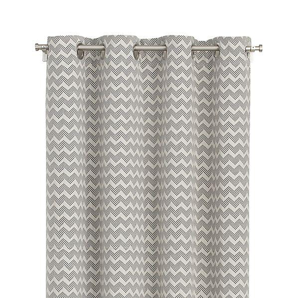 "Reilly 50""x108"" Grey Chevron Curtain Panel"