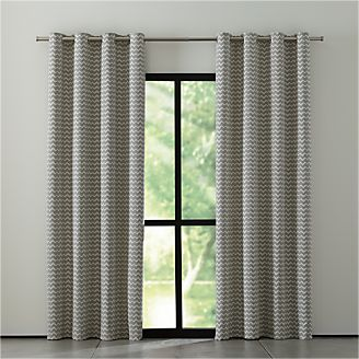 reilly grey chevron curtains - Green Bedroom Curtains