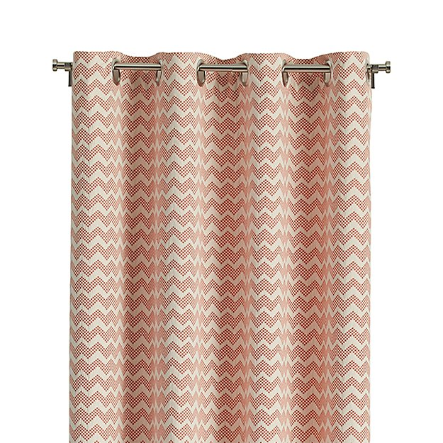 "Reilly Orange Chevron 50""x96"" Curtain Panel"