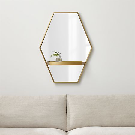 Reina Br Wall Mirror With Shelf