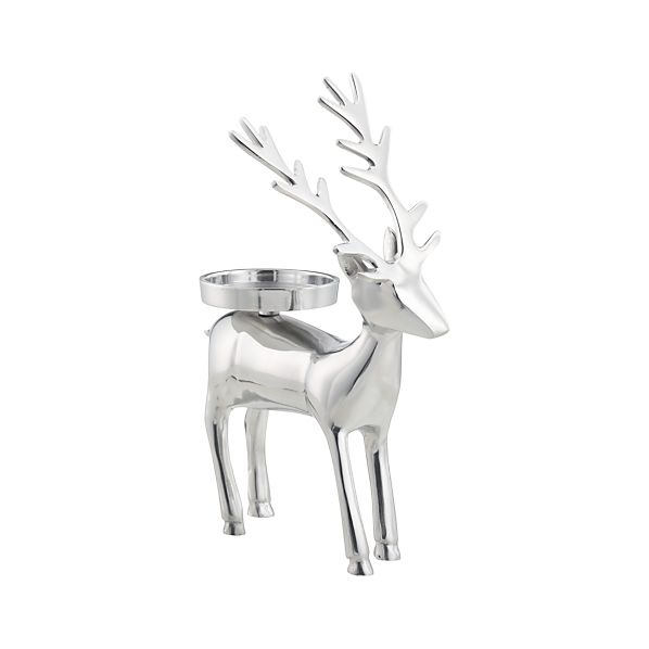 Reindeer Pillar Candleholder