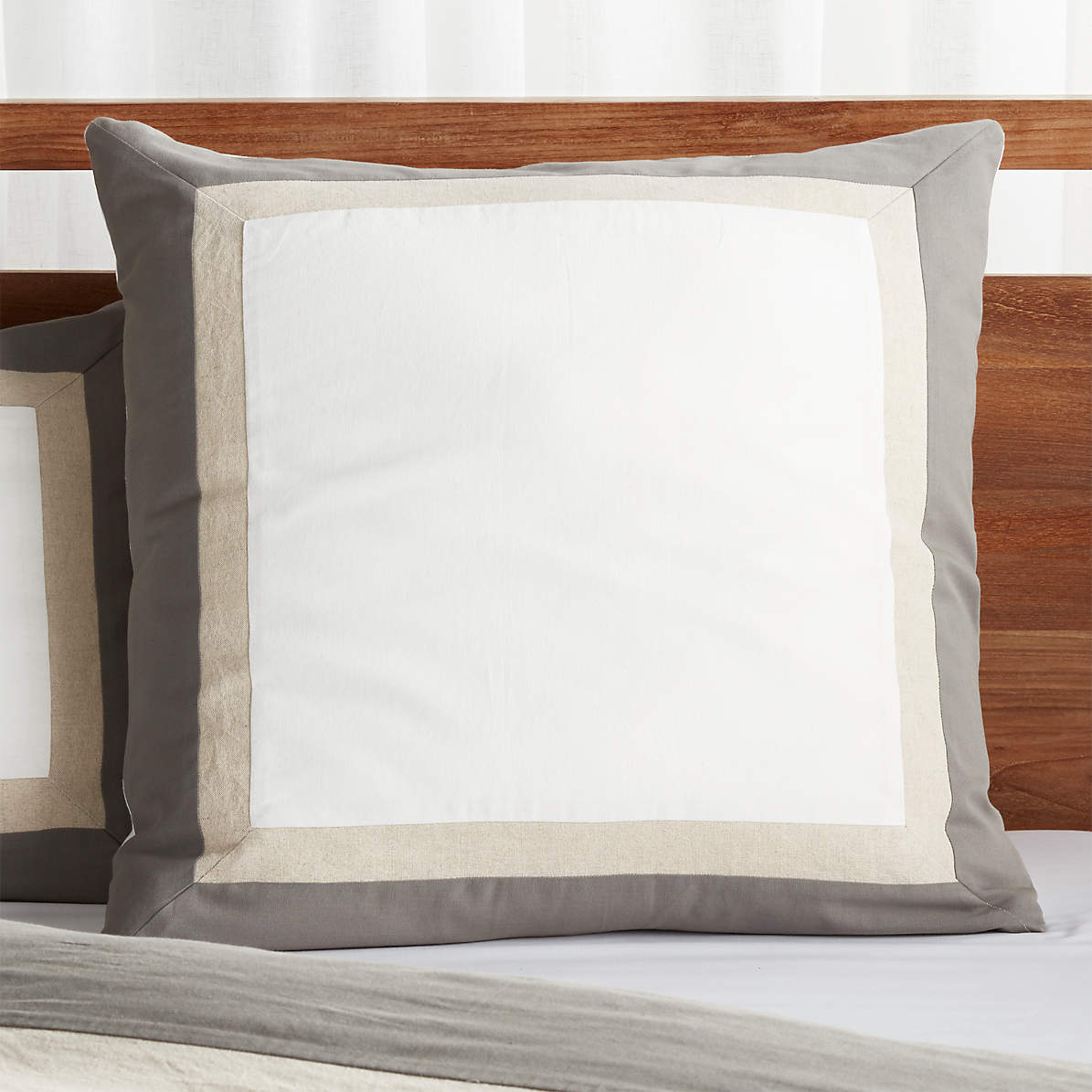Renatta Cotton Linen Euro Sham Reviews Crate And Barrel