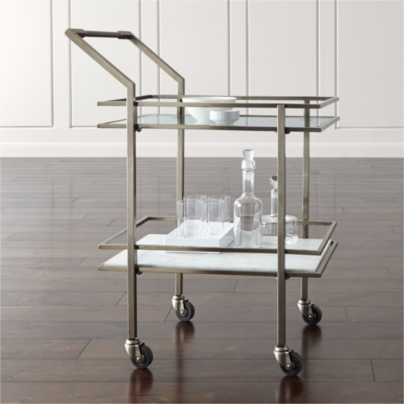 Well known Renee Bar Cart + Reviews | Crate and Barrel KY17