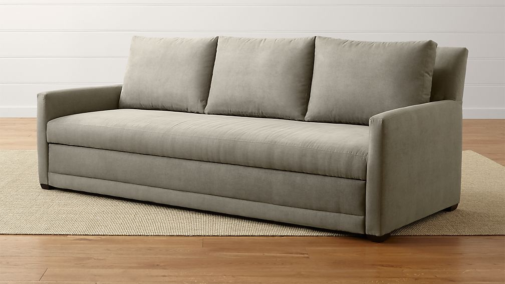 Reston Queen Trundle Sleeper Sofa Reviews Crate And Barrel