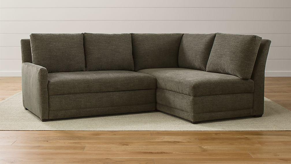 Reston 2-Piece Left Arm Loveseat Trundle Sleeper Sectional Sofa