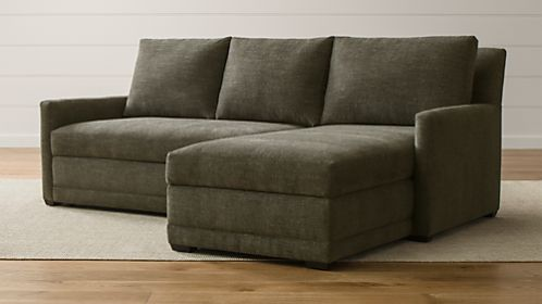 Reston 2 Piece Right Arm Chaise Trundle Sleeper Sectional Sofa