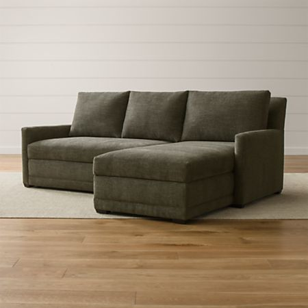 Reston Grey Sectional Sleeper Sofa + Reviews | Crate and Barrel