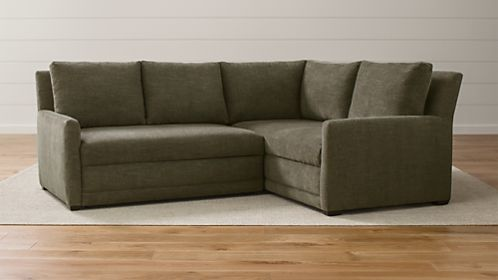 Reston 2 Piece Right Arm Corner Trundle Sleeper Sectional Sofa