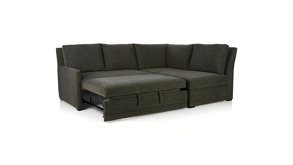 Reston 2-Piece Left Arm Loveseat Sleeper Sectional Sofa