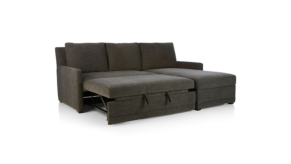 Reston Grey Sectional Sleeper Sofa Crate and Barrel