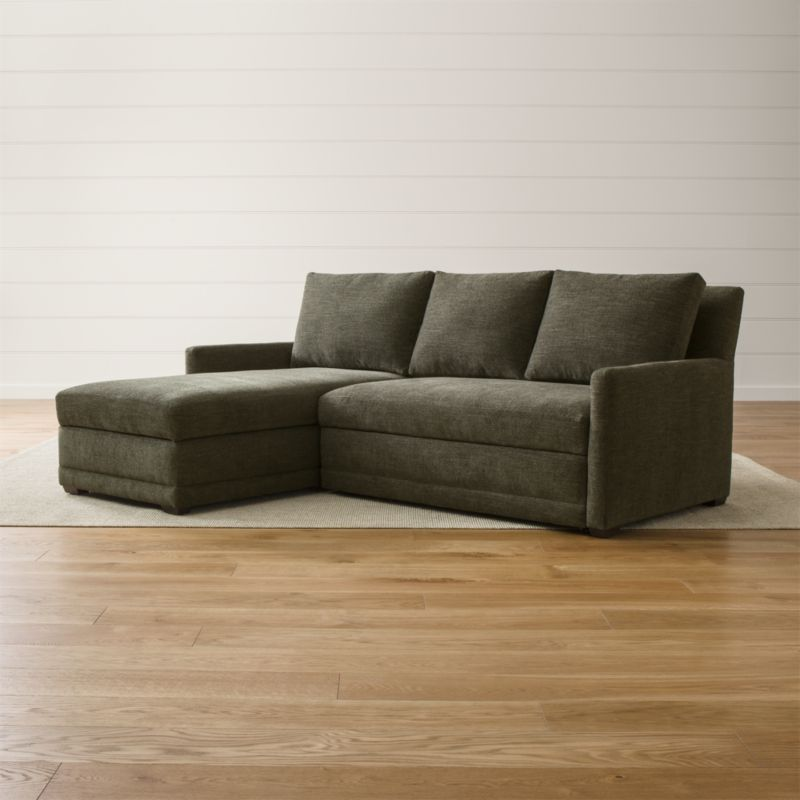 Reston 2 Piece Left Arm Chaise Trundle Sleeper Sectional