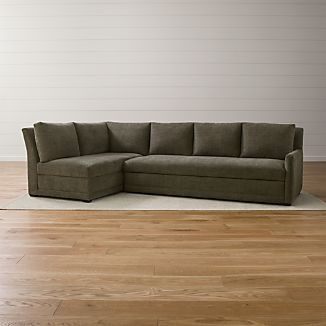 Reston 2-Piece Left Arm Bumper Sleeper Sectional Sofa