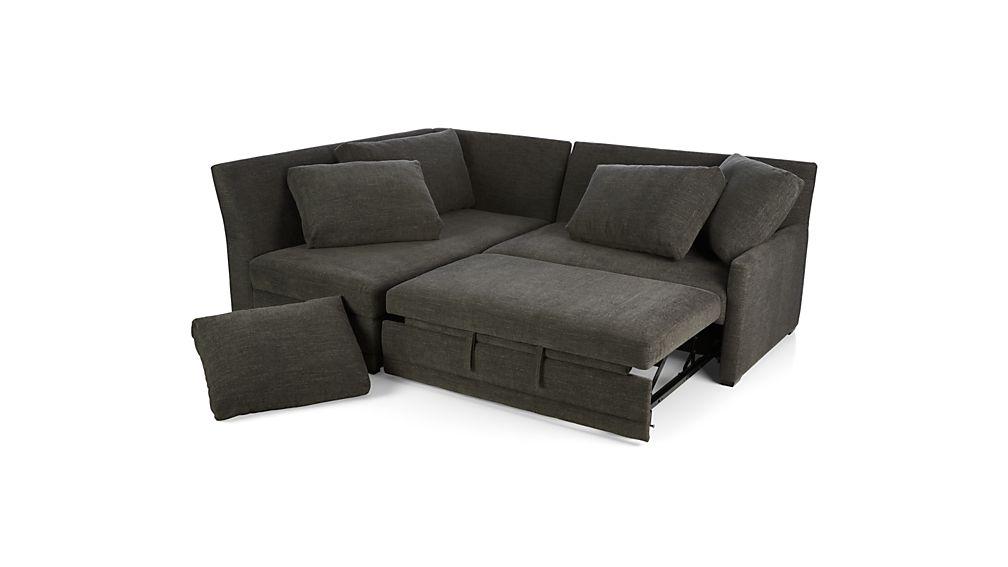 Reston 2-Piece Right Arm Loveseat Sleeper Sectional Sofa
