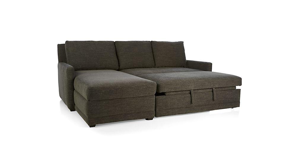 Reston 2-Piece Left Arm Chaise Sleeper Sectional Sofa