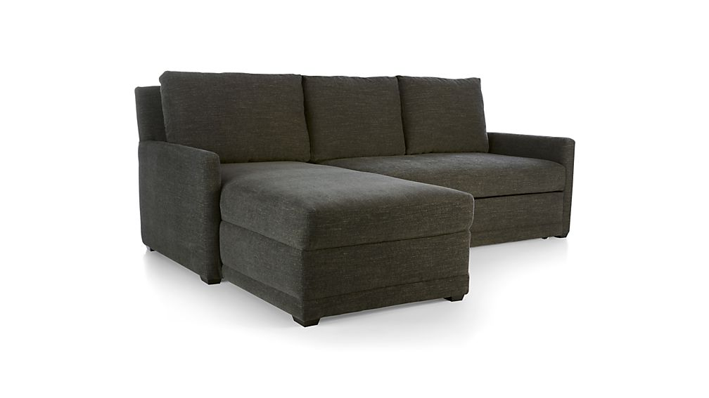 Superbe Reston 2 Piece Left Arm Chaise Trundle Sleeper Sectional Sofa + Reviews |  Crate And Barrel