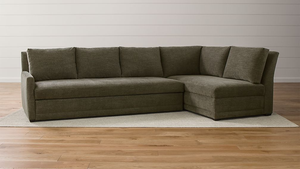 Reston 2-Piece Sectional Sleeper + Reviews | Crate and Barrel