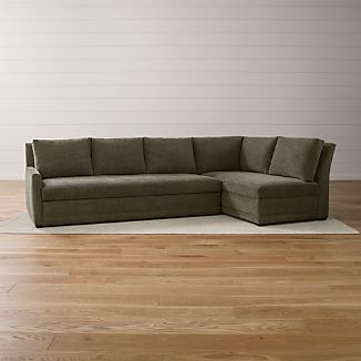 Reston 2-Piece Right Arm Bumper Sleeper Sectional Sofa