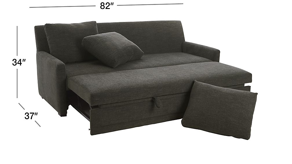 TAP TO ZOOM Image With Dimension For Reston Full Trundle Sleeper Sofa