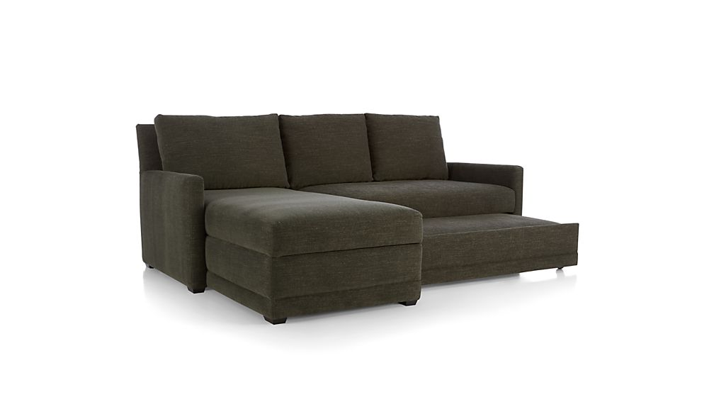 Reston 2-Piece Sleeper Sectional Sofa with Left Arm Storage Chaise