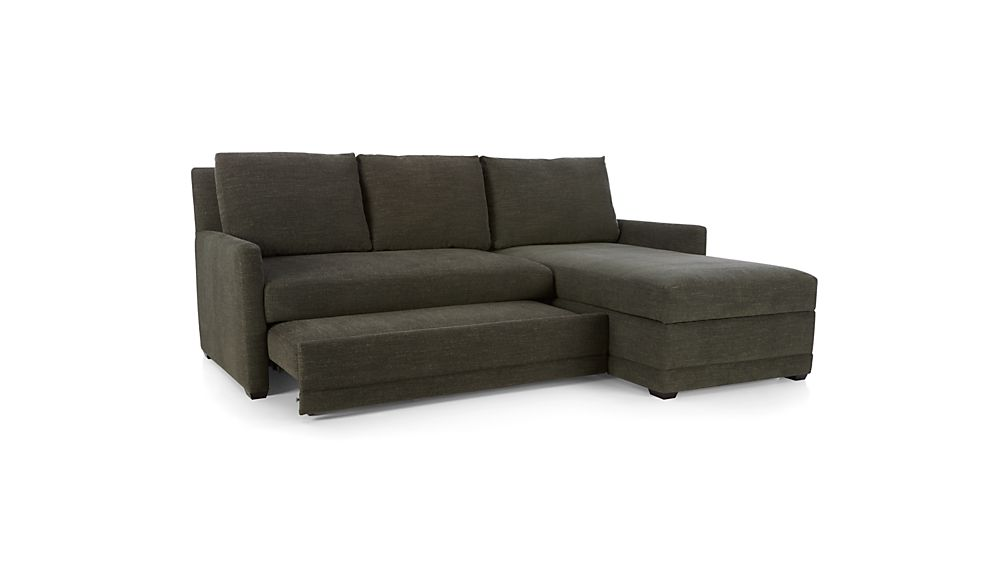 ... Reston 2-Piece Sectional Sleeper Sofa with Right Arm Storage Chaise ...  sc 1 st  Crate and Barrel : 2 piece sectional sleeper - Sectionals, Sofas & Couches