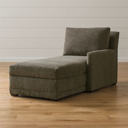 Astounding Reston Right Arm Storage Chaise Crate And Barrel Ibusinesslaw Wood Chair Design Ideas Ibusinesslaworg