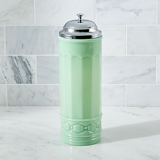 Retro Mint Straw Dispenser with Straws