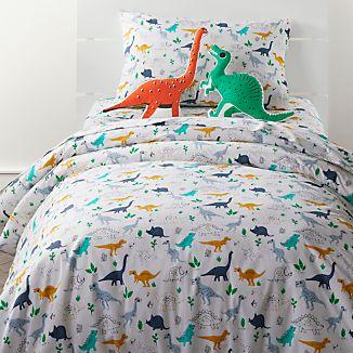 Organic Dinosaur Full Queen Duvet Cover