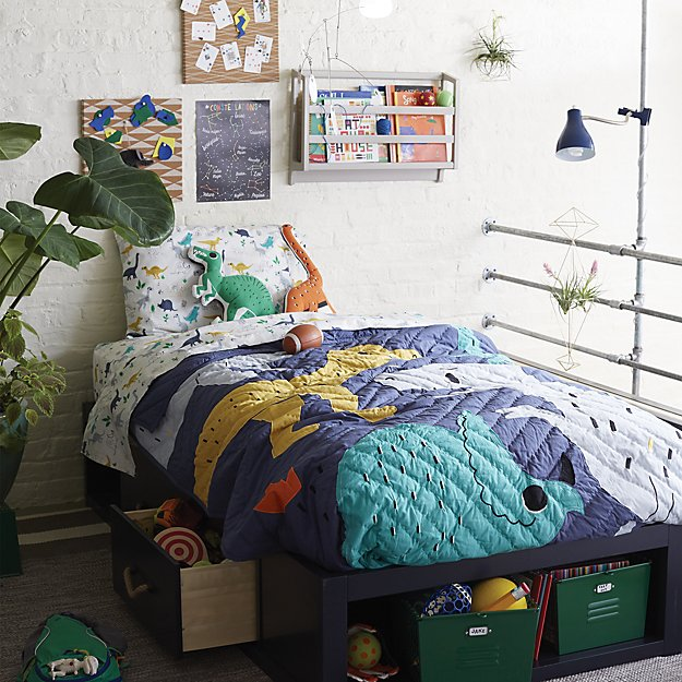 Boys Bedroom Ideas Dinosaur Theme: Retro Reptile Dinosaur Kids Bedding