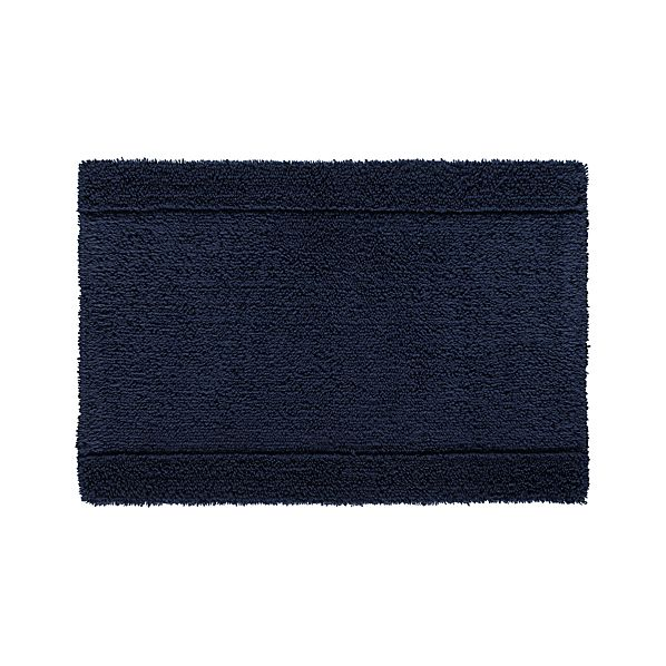 "Reversible Navy 24""x36"" Bath Rug"