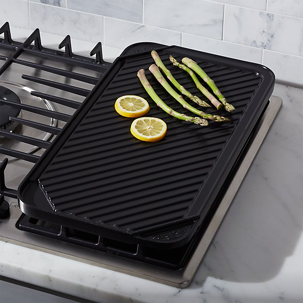 Reversible Ceramic Double Griddle Reviews Crate And Barrel