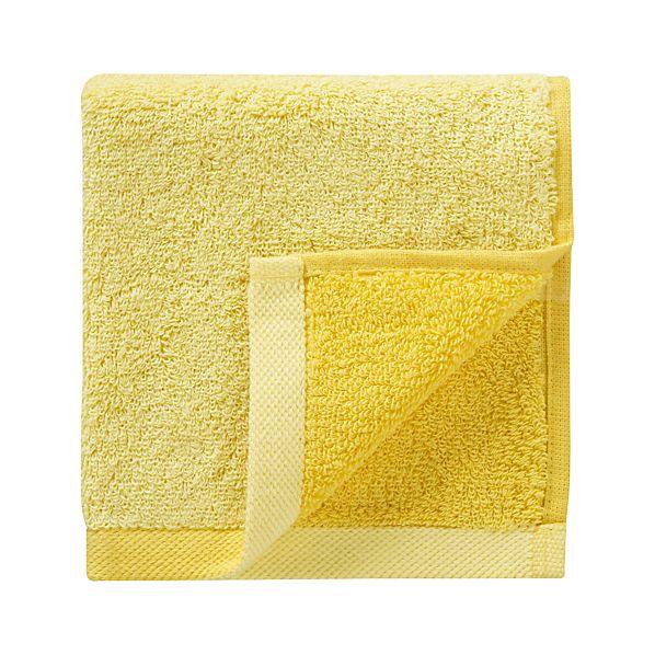 Reversible Yellow Washcloth
