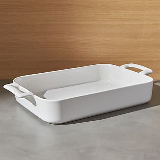 """Revol Belle Cuisine Rectangular White 13.5""""x9.75"""" Baking Dish"""