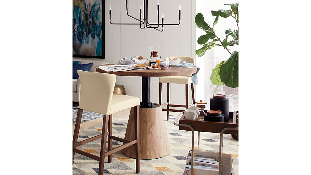 Revolve 48 Quot Round Adjustable Height Dining Table Reviews