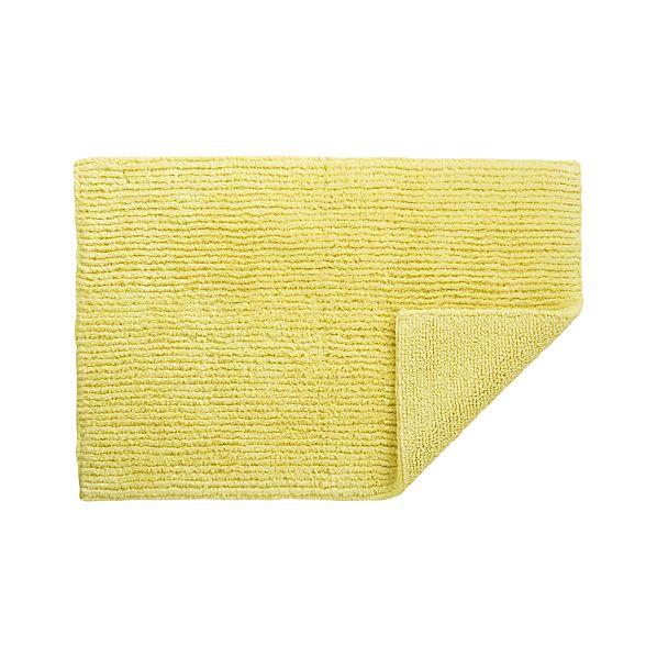 Reversible Yellow Bath Rug