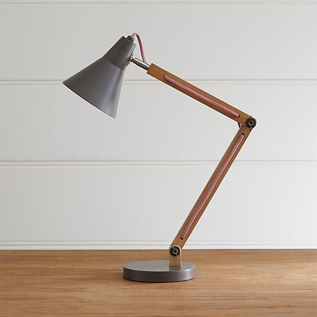 Rex Grey Desk Lamp