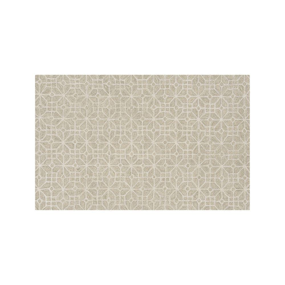 Rhea Dove Wool-Blend 5'x8' Rug - Crate and Barrel