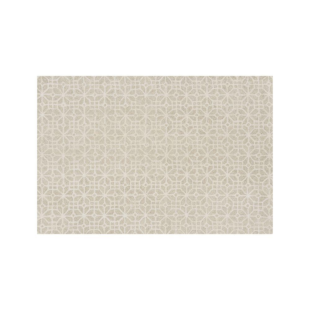 Rhea Dove Wool-Blend 6'x9' Rug - Crate and Barrel